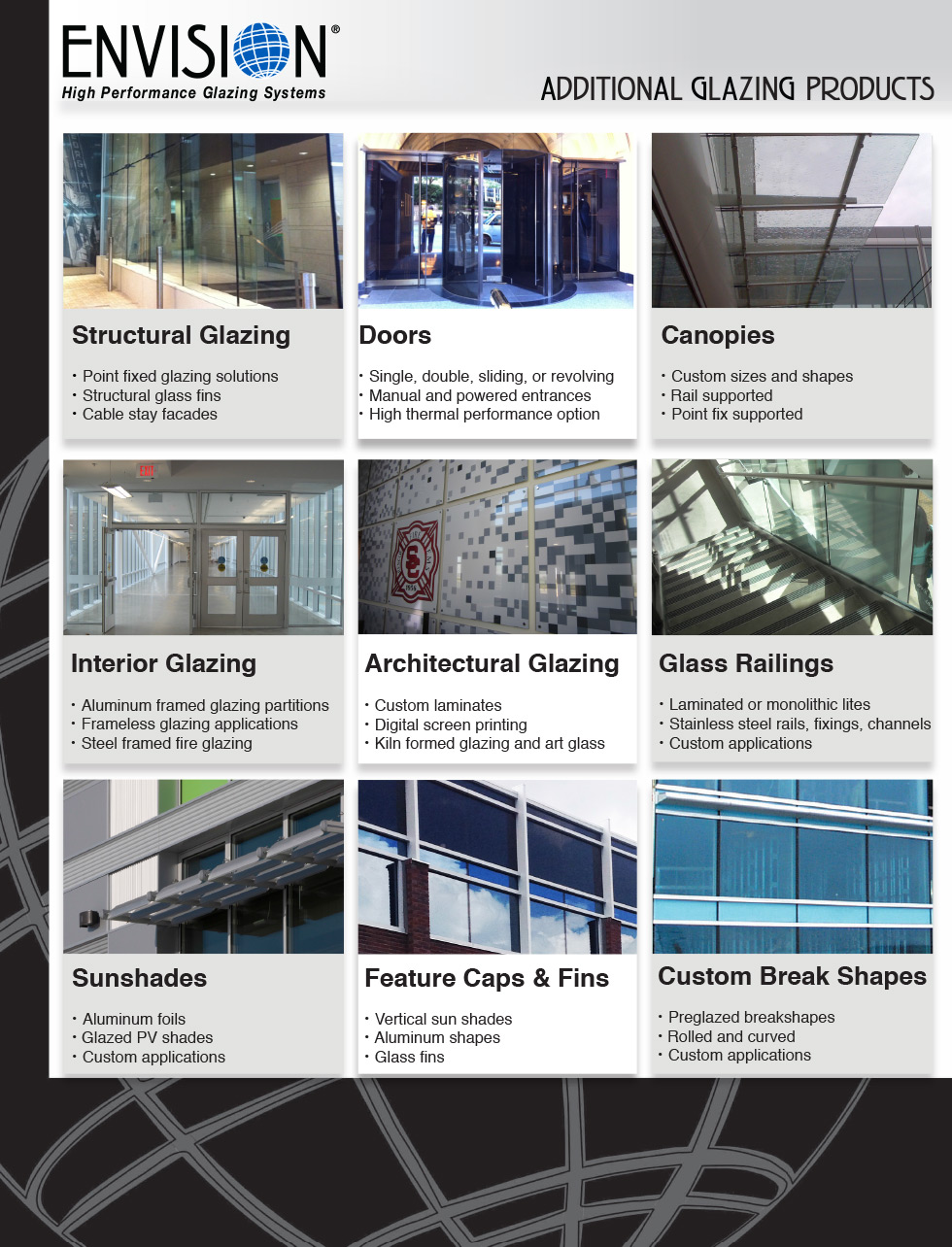 ENVISION - Products - Additional Glazing